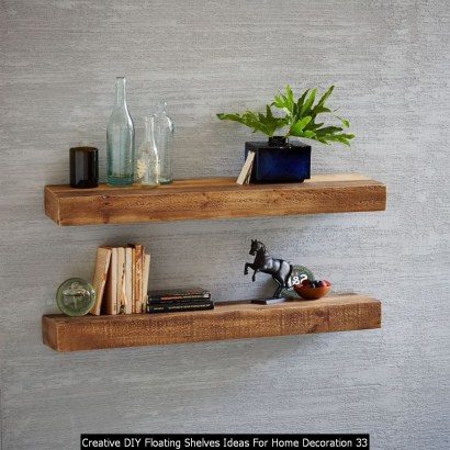Creative DIY Floating Shelves Ideas For Home Decoration 33