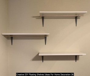 Creative DIY Floating Shelves Ideas For Home Decoration 36