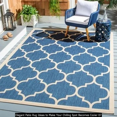 Elegant Patio Rug Ideas To Make Your Chilling Spot Becomes Cozier 07