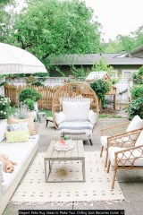 Elegant Patio Rug Ideas To Make Your Chilling Spot Becomes Cozier 12