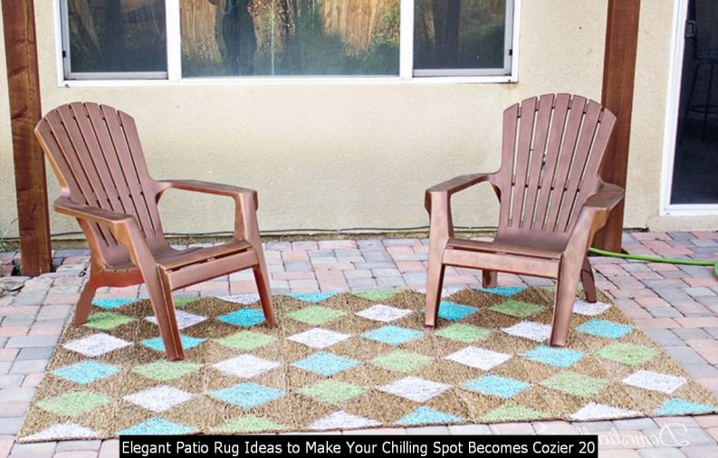 Elegant Patio Rug Ideas To Make Your Chilling Spot Becomes Cozier 20
