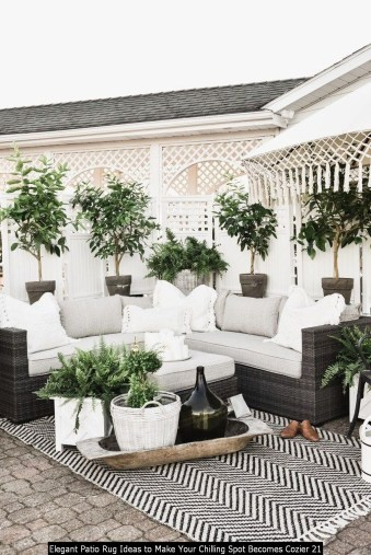 Elegant Patio Rug Ideas To Make Your Chilling Spot Becomes Cozier 21