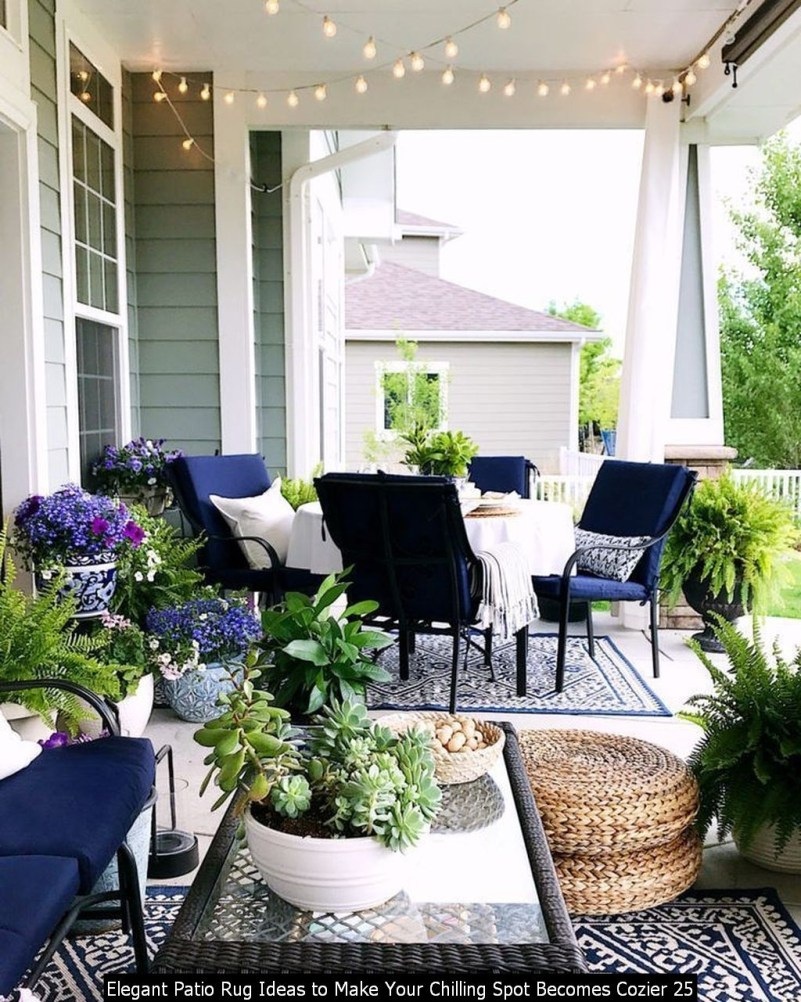 Elegant Patio Rug Ideas To Make Your Chilling Spot Becomes Cozier 25