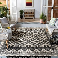 Elegant Patio Rug Ideas To Make Your Chilling Spot Becomes Cozier 26