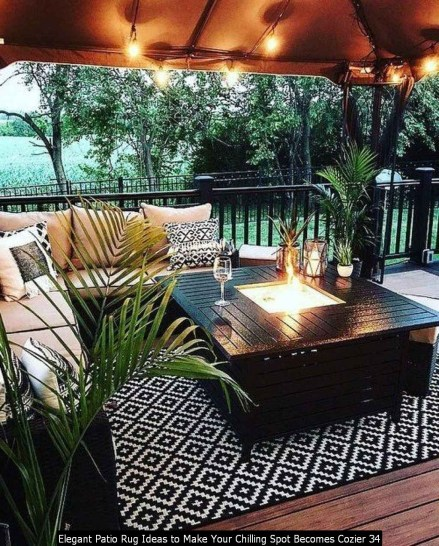 Elegant Patio Rug Ideas To Make Your Chilling Spot Becomes Cozier 34