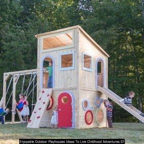 Enjoyable Outdoor Playhouses Ideas To Live Childhood Adventures 07