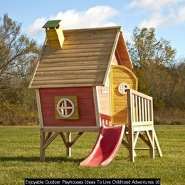 Enjoyable Outdoor Playhouses Ideas To Live Childhood Adventures 16