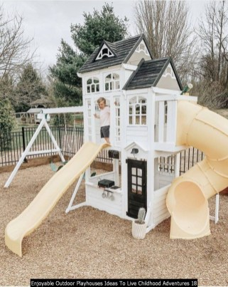Enjoyable Outdoor Playhouses Ideas To Live Childhood Adventures 18