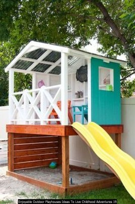 Enjoyable Outdoor Playhouses Ideas To Live Childhood Adventures 19