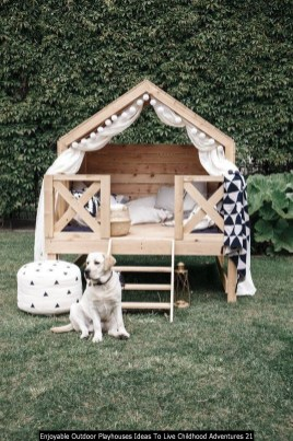 Enjoyable Outdoor Playhouses Ideas To Live Childhood Adventures 21