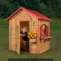 Enjoyable Outdoor Playhouses Ideas To Live Childhood Adventures 25
