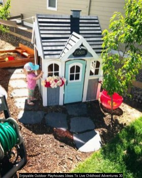 Enjoyable Outdoor Playhouses Ideas To Live Childhood Adventures 30