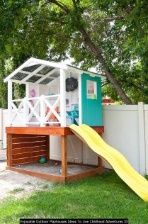 Enjoyable Outdoor Playhouses Ideas To Live Childhood Adventures 33