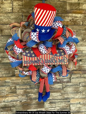 Extraordinary 4th Of July Wreath Ideas For This Summer 26
