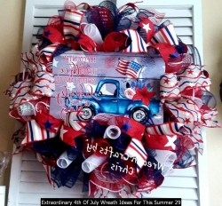 Extraordinary 4th Of July Wreath Ideas For This Summer 29