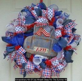 Extraordinary 4th Of July Wreath Ideas For This Summer 40