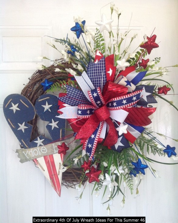 Extraordinary 4th Of July Wreath Ideas For This Summer 46