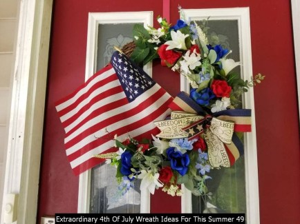 Extraordinary 4th Of July Wreath Ideas For This Summer 49
