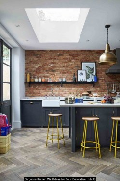 Gorgeous Kitchen Wall Ideas For Your Decorative Hub 08