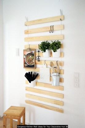 Gorgeous Kitchen Wall Ideas For Your Decorative Hub 38