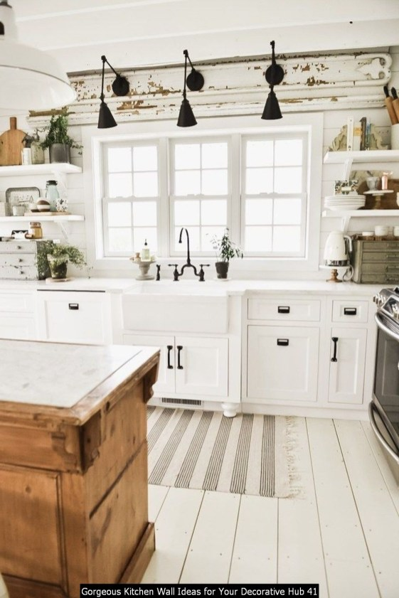 Gorgeous Kitchen Wall Ideas For Your Decorative Hub 41