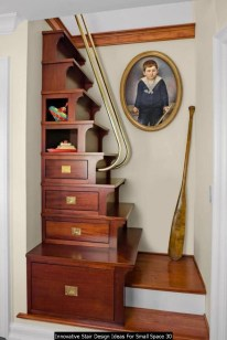 Innovative Stair Design Ideas For Small Space 30