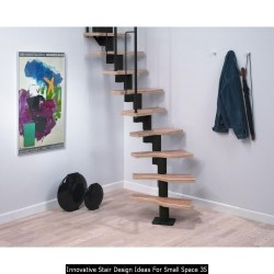 Innovative Stair Design Ideas For Small Space 35