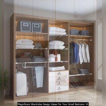 Magnificent Wardrobe Design Ideas For Your Small Bedroom 14