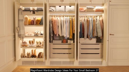 Magnificent Wardrobe Design Ideas For Your Small Bedroom 27