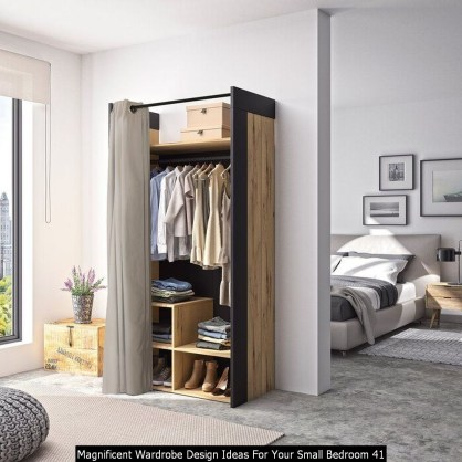 Magnificent Wardrobe Design Ideas For Your Small Bedroom 41