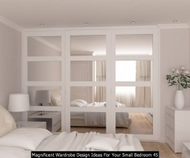 Magnificent Wardrobe Design Ideas For Your Small Bedroom 45