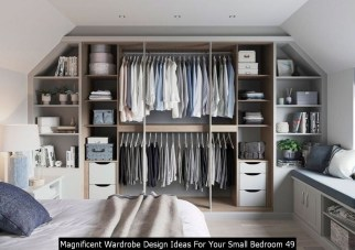 Magnificent Wardrobe Design Ideas For Your Small Bedroom 49