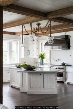 Rustic Wooden Kitchen Island Ideas For Your Kitchen 08