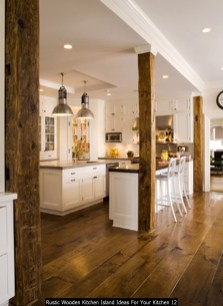 Rustic Wooden Kitchen Island Ideas For Your Kitchen 12