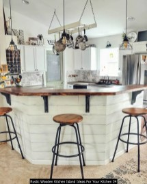 Rustic Wooden Kitchen Island Ideas For Your Kitchen 24