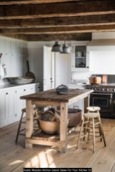 Rustic Wooden Kitchen Island Ideas For Your Kitchen 31
