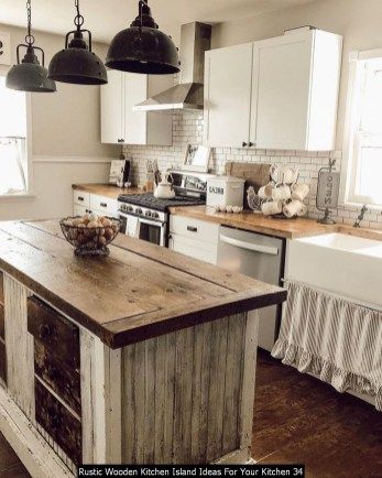 Rustic Wooden Kitchen Island Ideas For Your Kitchen 34