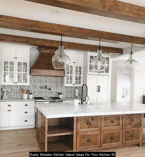 Rustic Wooden Kitchen Island Ideas For Your Kitchen 45