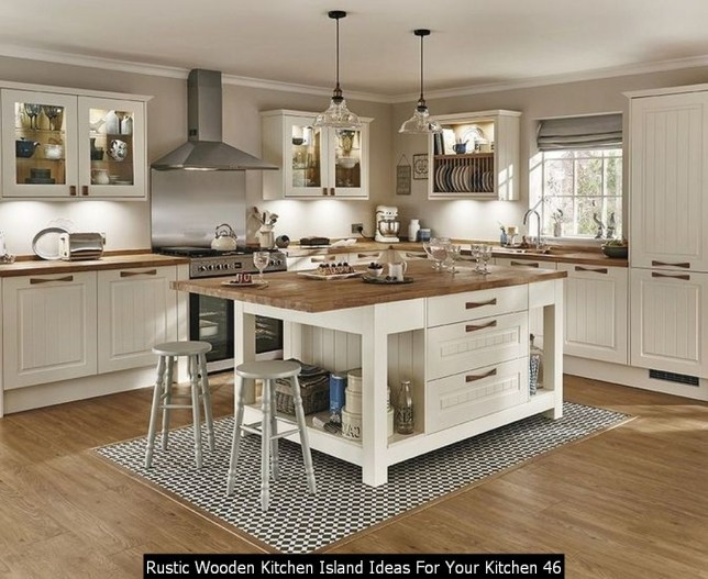 Rustic Wooden Kitchen Island Ideas For Your Kitchen 46