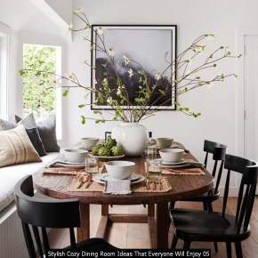 Stylish Cozy Dining Room Ideas That Everyone Will Enjoy 05