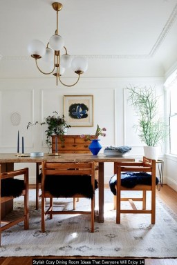 Stylish Cozy Dining Room Ideas That Everyone Will Enjoy 14