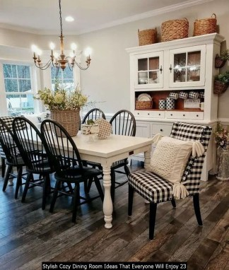 Stylish Cozy Dining Room Ideas That Everyone Will Enjoy 23