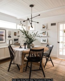 Stylish Cozy Dining Room Ideas That Everyone Will Enjoy 36