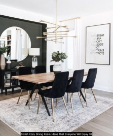 Stylish Cozy Dining Room Ideas That Everyone Will Enjoy 40