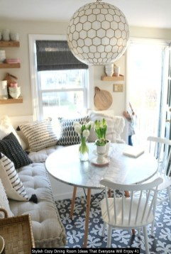 Stylish Cozy Dining Room Ideas That Everyone Will Enjoy 41
