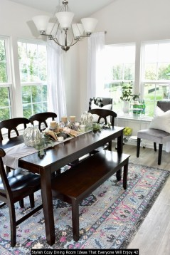 Stylish Cozy Dining Room Ideas That Everyone Will Enjoy 42