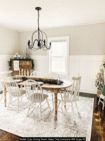 Stylish Cozy Dining Room Ideas That Everyone Will Enjoy 45