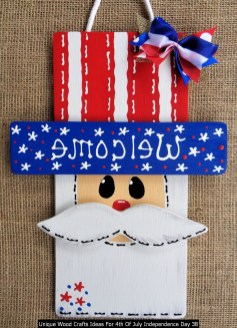 Unique Wood Crafts Ideas For 4th Of July Independence Day 38