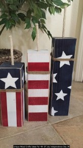 Unique Wood Crafts Ideas For 4th Of July Independence Day 39