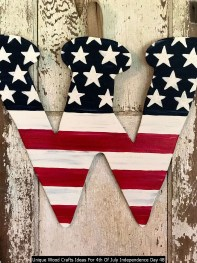Unique Wood Crafts Ideas For 4th Of July Independence Day 48